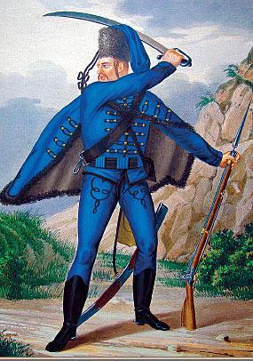 Гусар Сербского полка в 1741—1761 гг.