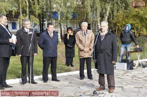 Выступает вице-президент Скобелевского комитета В.И. Гусаров.
