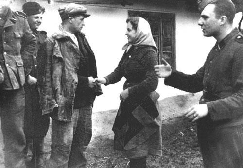 Доброволец 14-й дивизии СС «Галиция» прощается с сестрой