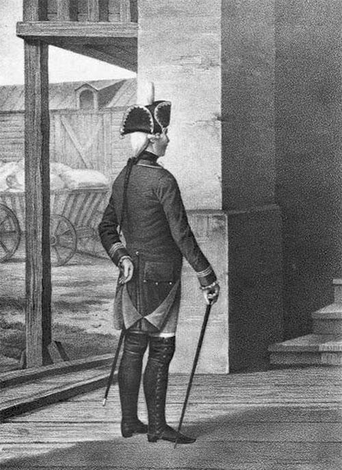 Нестроевой пехотного полка 1763—1786 гг.