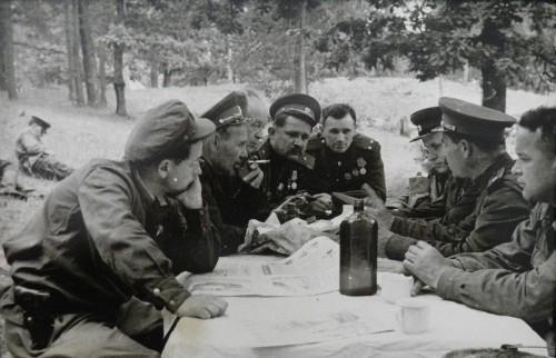 Совещание партизанских командиров. Ковпак С.А.