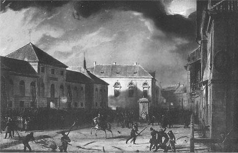Взятие Варшавского арсенала  Художник М. Залеский, 1831 г.