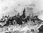Вязьма в середине XIX в. Гравюра