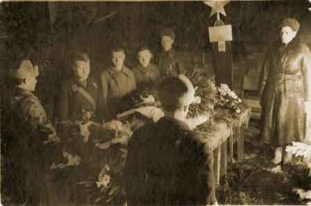 Похороны В.В. Силантьева. г. Кубинка. Февраль 1942 года.