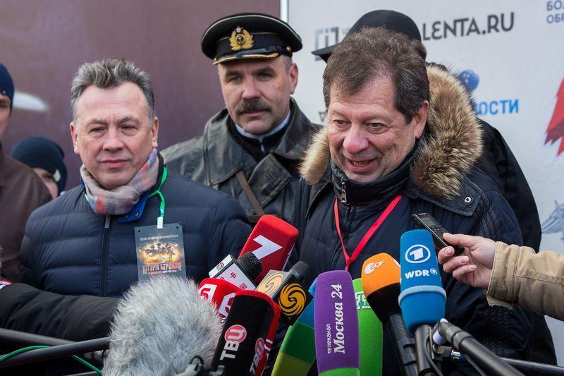 Ректор Университета Синергия профессор Юрий Рубин и заместитель министра науки и образования России Вениамин Каганов после проведения мероприятия.