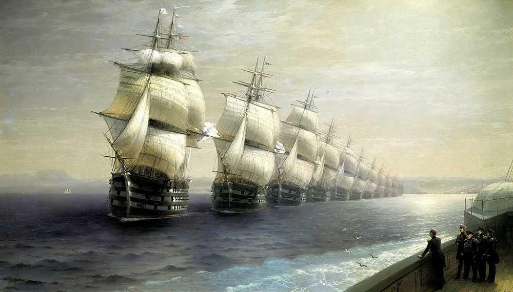 И.К. Айвазовский «Смотр Черноморского флота в 1849 г.»