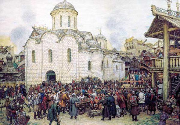 Оборона Москвы от хана Тохтамыша Художник А. Васнецов