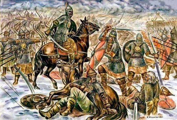 Битва на реке Сити 4 марта 1238 г.