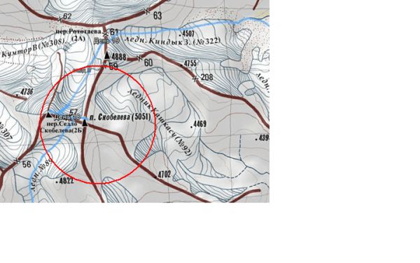 12. Фрагмент топографической карты горной цепи Кичик-Алай