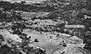 Рис. 19. Фрагмент аэрофотоснимка места развертывания  советского ракетного полка на Кубе