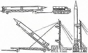 Схема установки ракеты Р-12