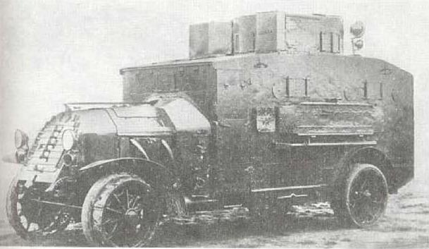 Бронеавтомобиль фирмы Даймлер.