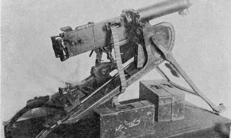 Один из первых захваченных в Восточной Пруссии германских пулеметов.