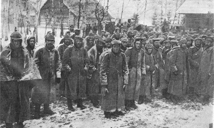 Пленные германцы. Прибалтийско-белорусский ТВД. Зима 1916 г.