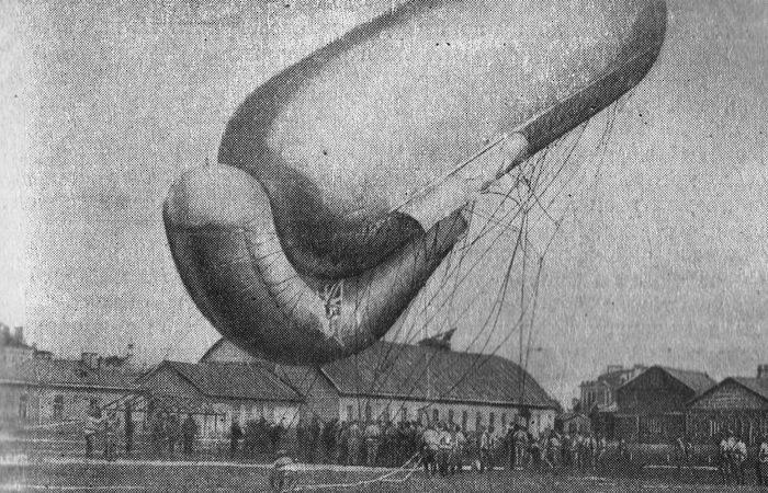 Змейковый аэростат системы Зигсфельд-Парсеваль