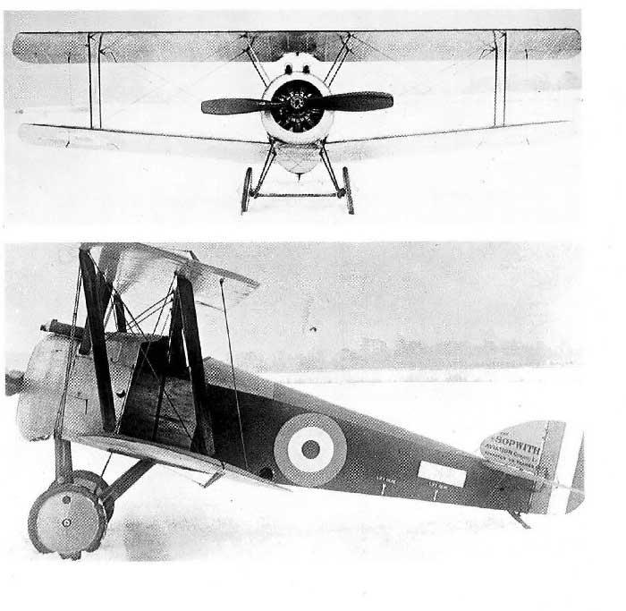 Сопвич Ф-1, 1916 г. Фото: Вruce J. M. Sopwith Camel. London 1991.