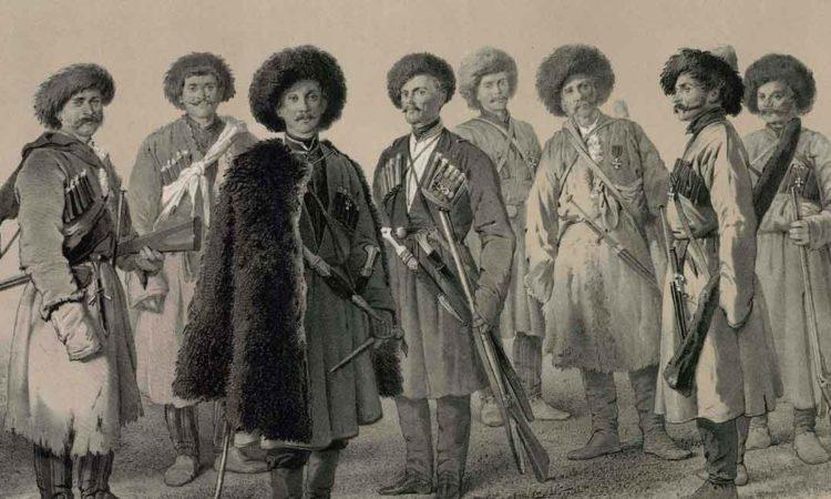 Черноморские пластуны 2-го и 8-го батальонов, отличившиеся при защите Севастополя 1854-1855 гг. Художник В.Ф. Тимм.