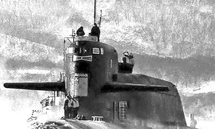 РПКСН «К-223» проекта 667БДР прибыл в состав Краснознамённого Тихоокеанского флота в 1980 г., совершив подлёдный межфлотский переход