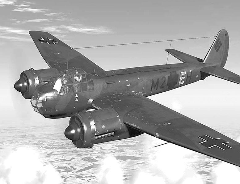 Немецкий самолёт Ю-88, «юнкерс»