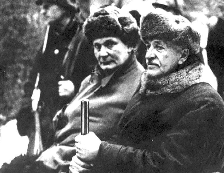 Г. Геринг и президент Польши И. Мосьцицкий (справа) на охоте в Беловежской пуще.