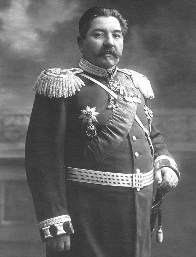 Начальник ГВСУ А.Я. Евдокимов, 1910 г.