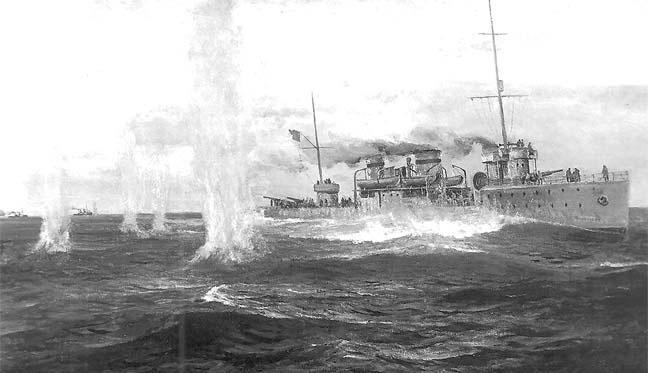 Бой эсминца «Гавриил» с кораблями английской эскадры