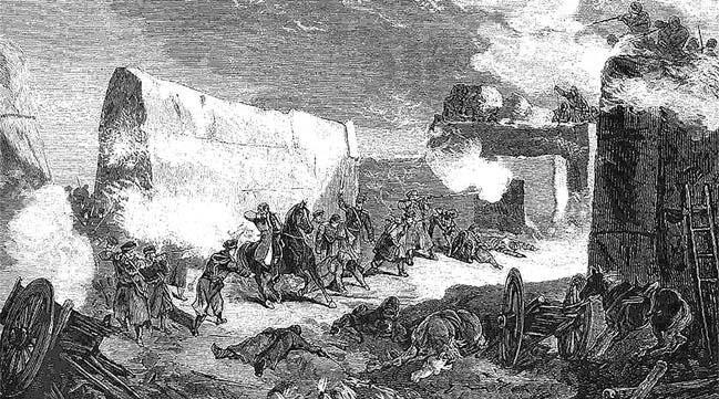Смерть генерала Н.Г. Петрусевича. Рисунок Н.Н. Каразина