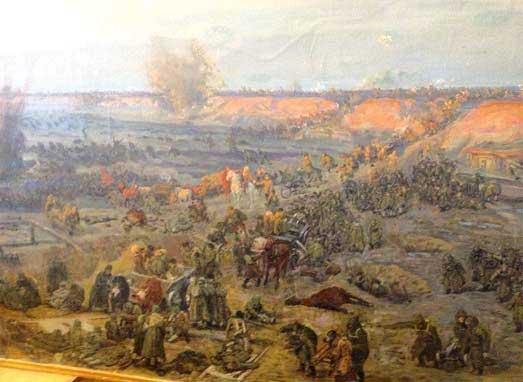Фрагмент эскиза «Бой у Чонгарского моста»