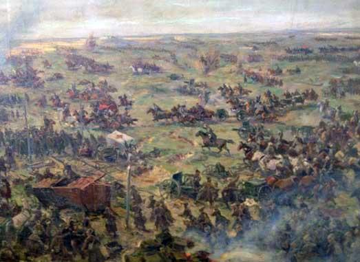 Фрагмент эскиза «Штурм Перекопского вала»