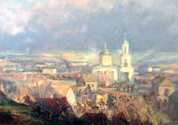 Бой 1-й Конной в с. Отрада. Фрагменты эскизов к панораме 1937—1940 гг.
