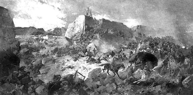 Штурм Геок-Тепе. Художник Н.Н. Каразин, 1881 г.