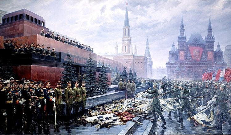 Триумф победившей Родины. Художник М.И. Хмелько, 1949 г.