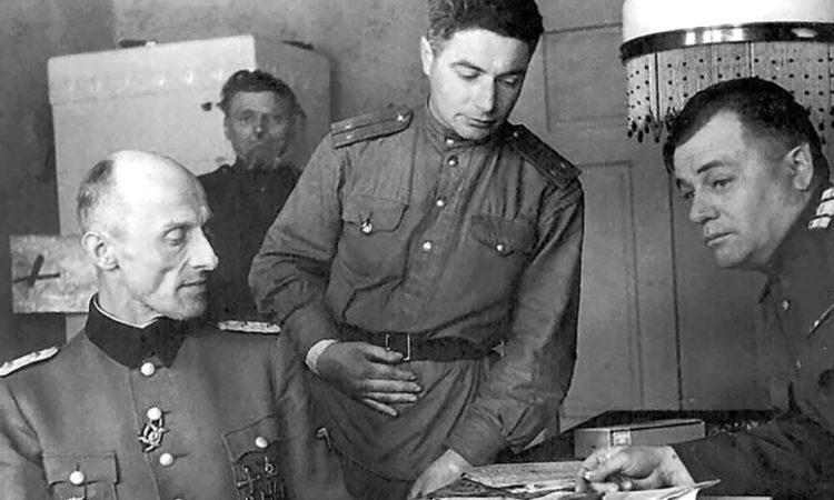 Допрос немецкого военнопленного