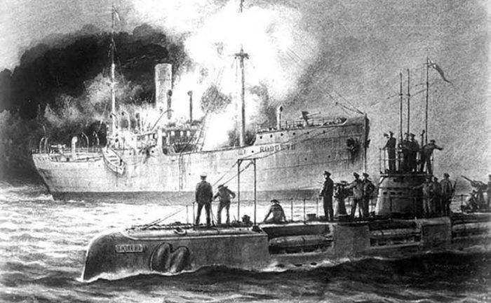 Захват турецкого военного транспорта «Родосто» экипажем подводной лодки «Тюлень» 11 сентября 1916 г.