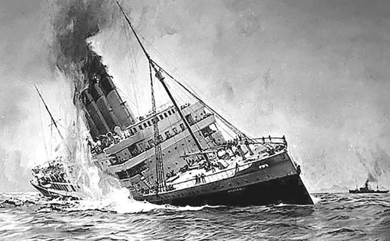 Торпедирование немецкой подводной лодкой «U-20» пассажирского лайнера «Лузитания» 7 мая 1915 г.