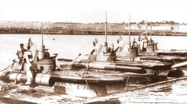 Итальянские подлодки типа СВ в Констанце. Май 1942 г.